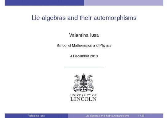 LieAlgebras