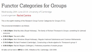 Anitha Thillaisundaram attended a Functor Categories for